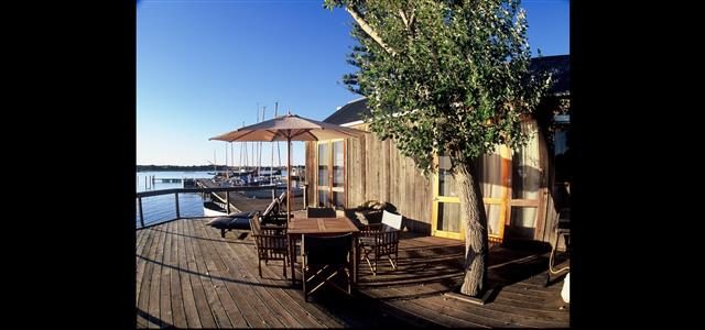 Alfresco deck at the Boathouse