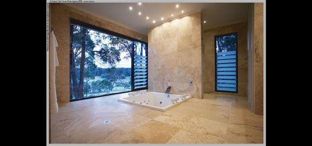 Marble Bathroom with sunken spa