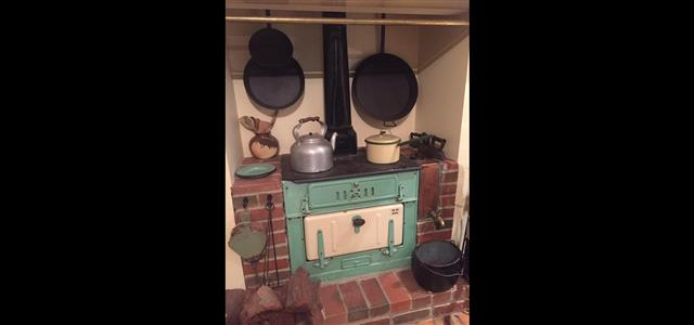 Old wood stove at Echo Farm Cottage Museum Mount Gambier