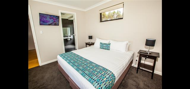 Bedroom with King beds or optional single beds
